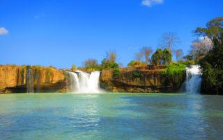 Weltreise Backpacking Entscheidung Wasserfall Vietnam