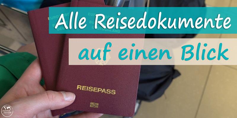 Wir zeigen Dir die Reisedokumente, die Du auf deiner Weltreise auf keinen Fall vergessen solltest.