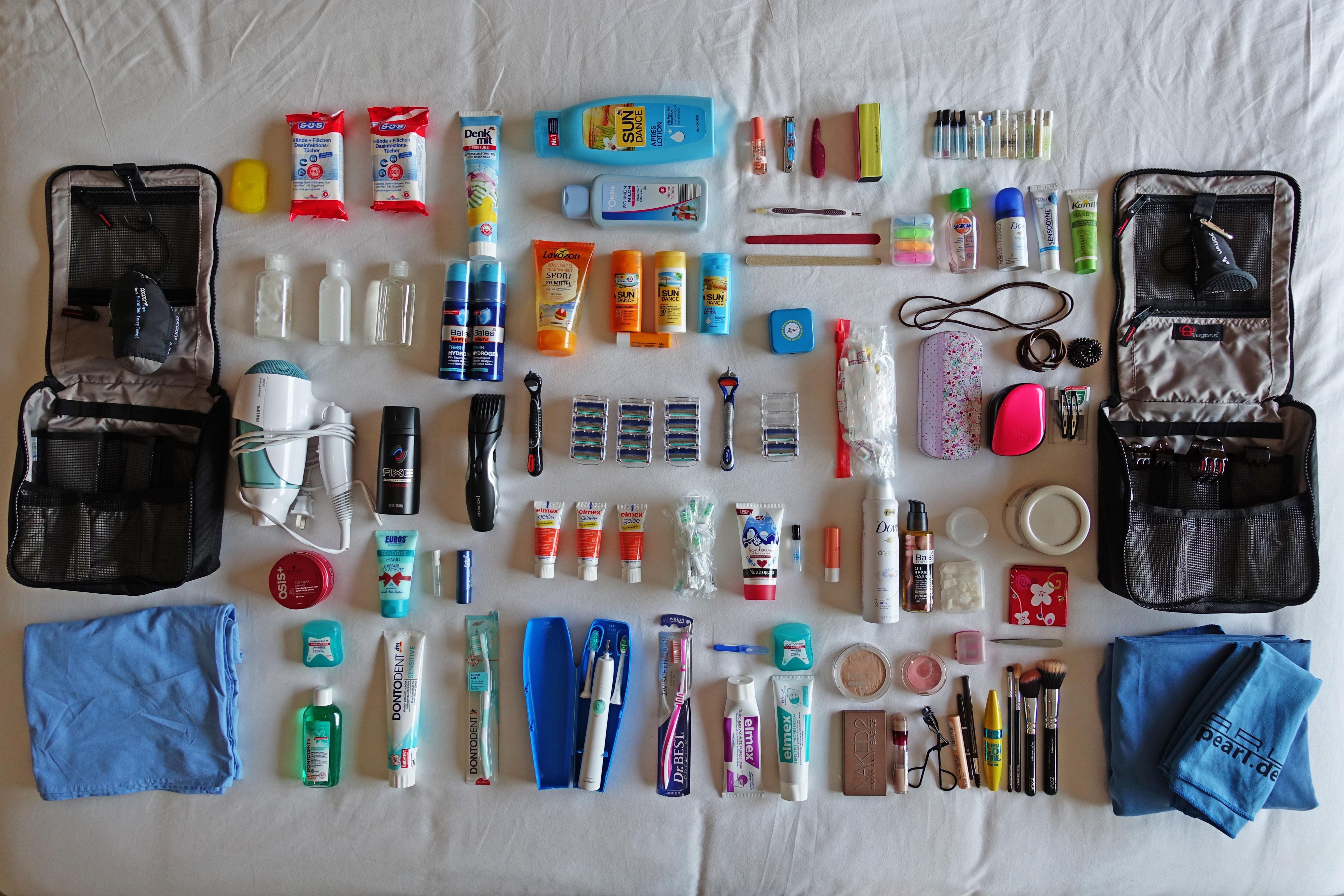 Hier sind alle Drogerieartikel von unserer Weltreise Packliste