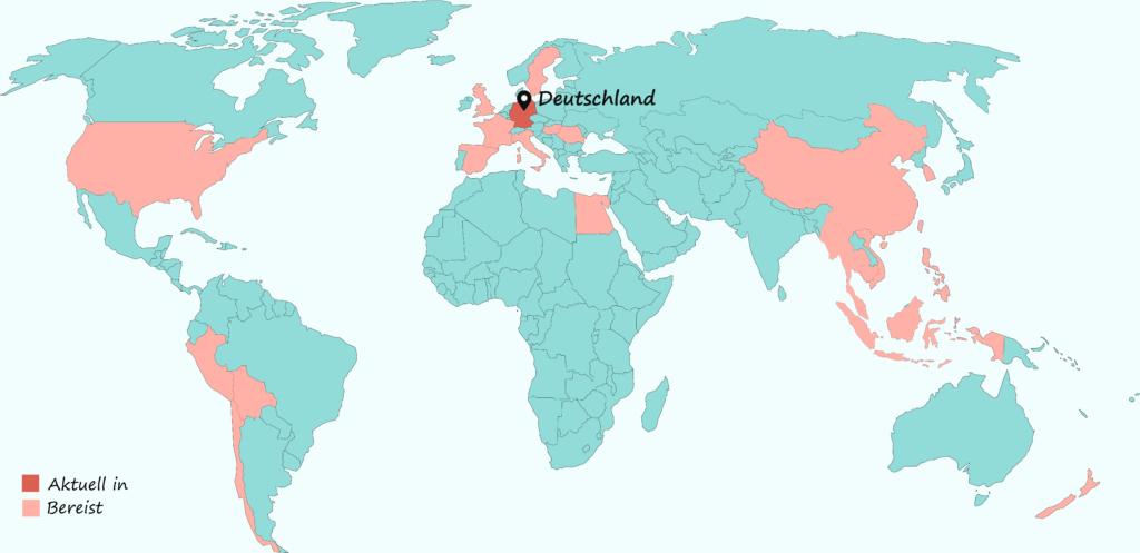 Hier waren wir überall auf Weltreise.